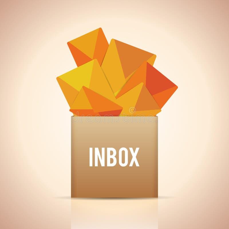 Fulla Inbox royaltyfri illustrationer