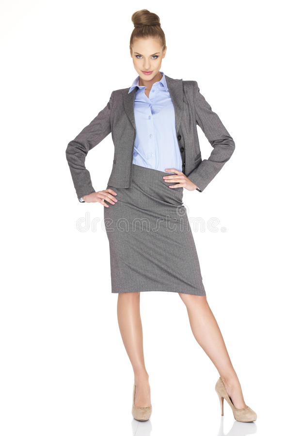 Fullbody biznesowej kobiety ja target808_0_   fotografia royalty free