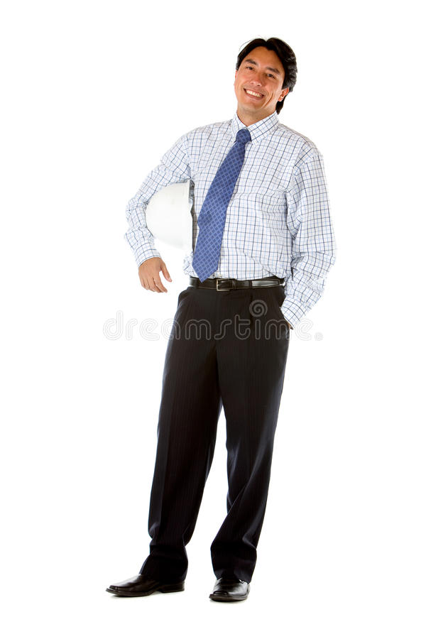 Download Fullbody business engineer stock image. Image of isolated - 13059623