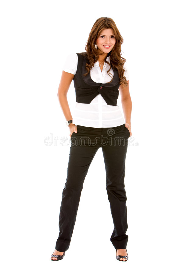 Download Fullbody business woman stock photo. Image of isolated - 8733454