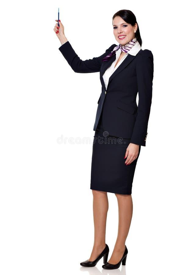 Fullbody einer jungen schönen Geschäftsfrau stockfoto