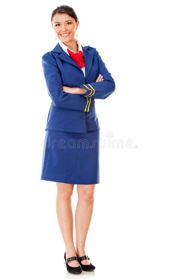 Download Fullbody flight attendant stock photo. Image of outfit - 23693798