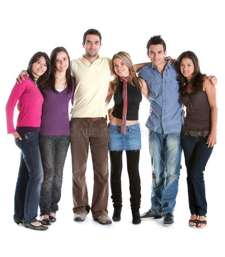 Download Fullbody group of friends stock photo. Image of cute, american - 8341414