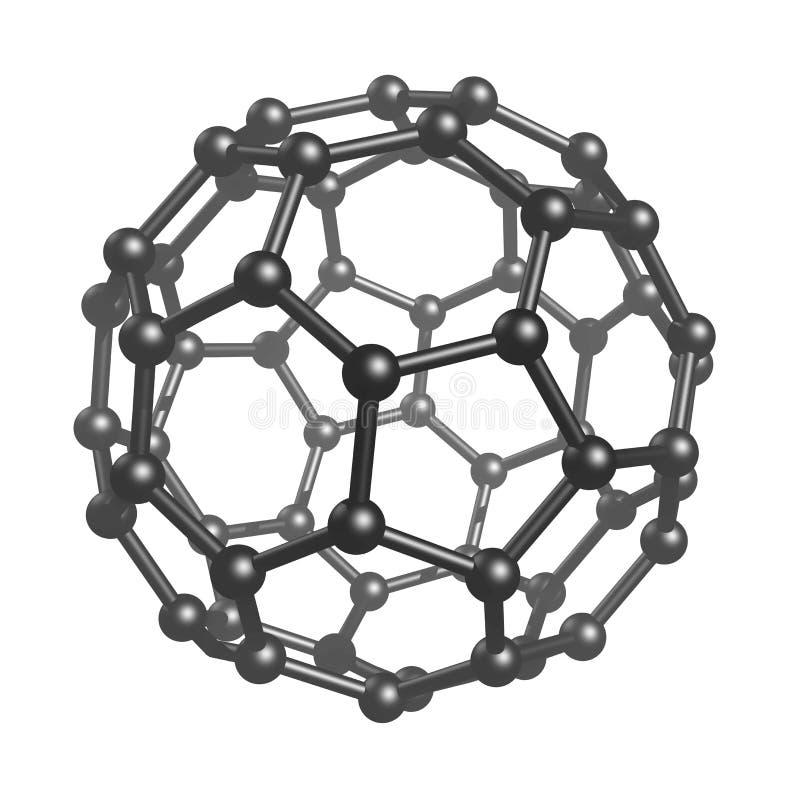 Fullerene C60 ilustração do vetor