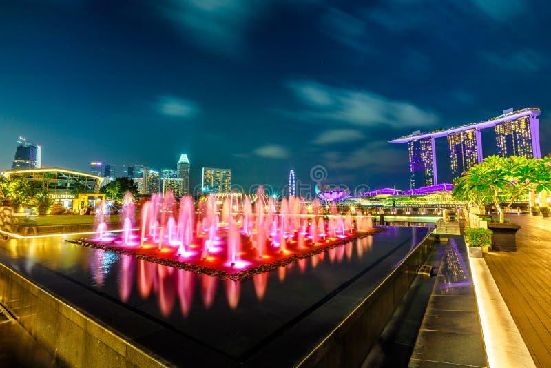 Fullerton fontanna Singapur zdjęcia royalty free