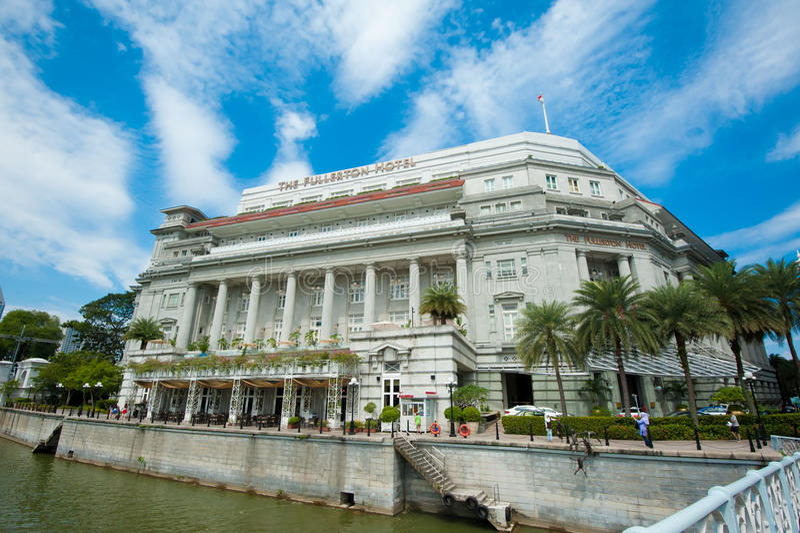 Fullerton hotel Singapur zdjęcie royalty free