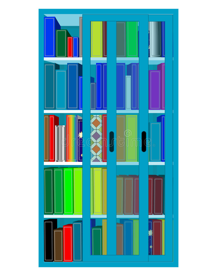 fullgj橬一j bokhylla arkivbild