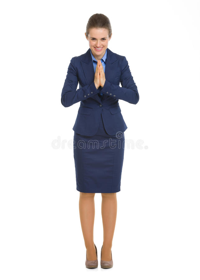Download FullHappy Business Woman Showing Asian Greeting Stock Image - Image of beautiful, costume: 30995593