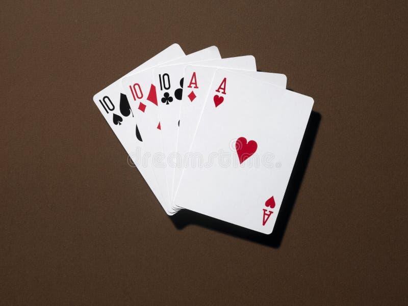 Download Fullhouse foto de archivo. Imagen de junta, casino, marrón - 7288744
