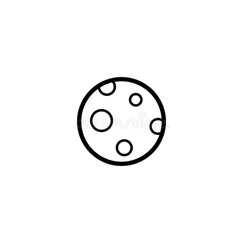 Fullmåneöversiktssymbol stock illustrationer