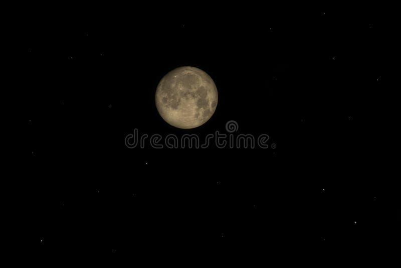 Fullmåne över Tyskland arkivbild