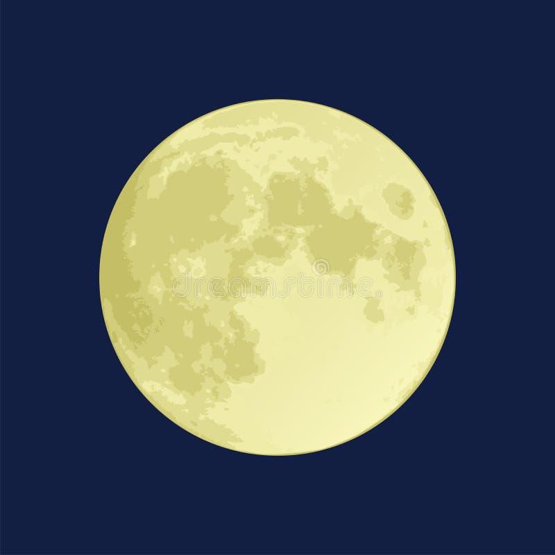 fullmåne royaltyfri illustrationer