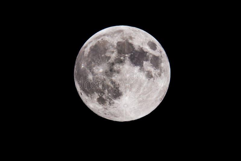 Fullmåne från Paris arkivfoto