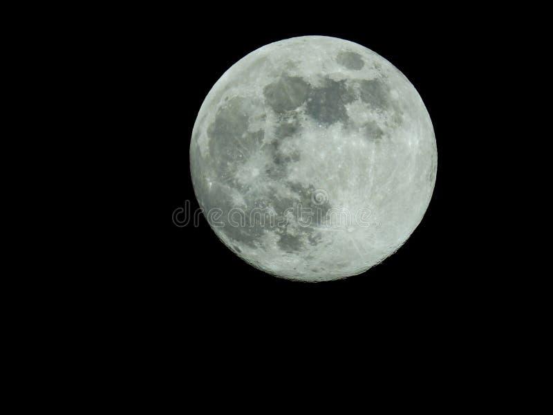 Fullmåne i himlen för stjärnklar natt stock illustrationer