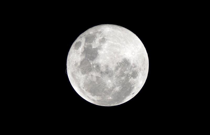 Fullmåne på den mörka natten royaltyfri bild