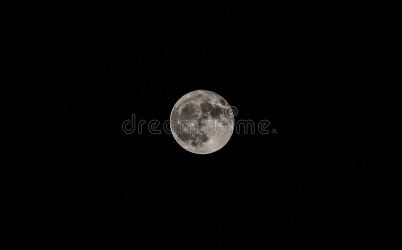 Fullmånen royaltyfria bilder