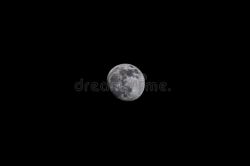 Fullmoon in the night sky. Roun Luna Color royalty free stock image
