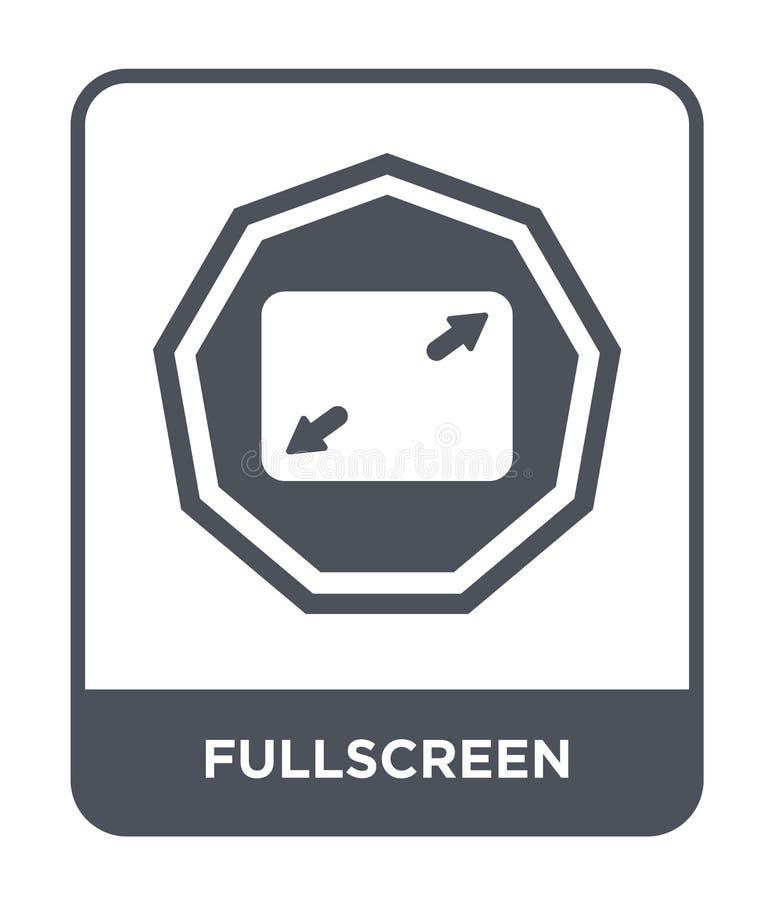 fullscreen pictogram in in ontwerpstijl fullscreen pictogram op witte achtergrond wordt geïsoleerd die fullscreen vector eenvoudi stock illustratie