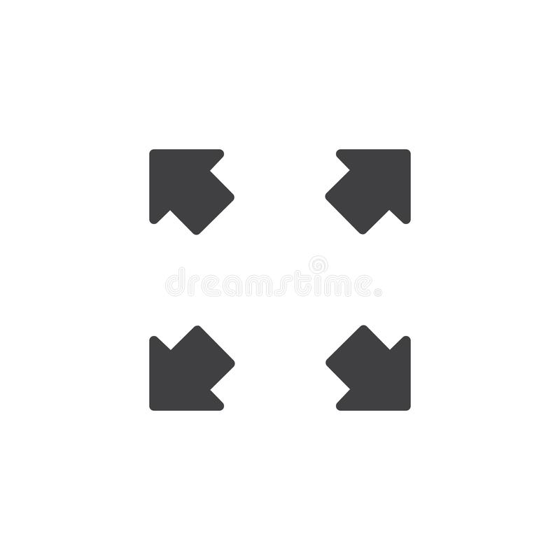 Fullscreen vectorpictogram stock illustratie