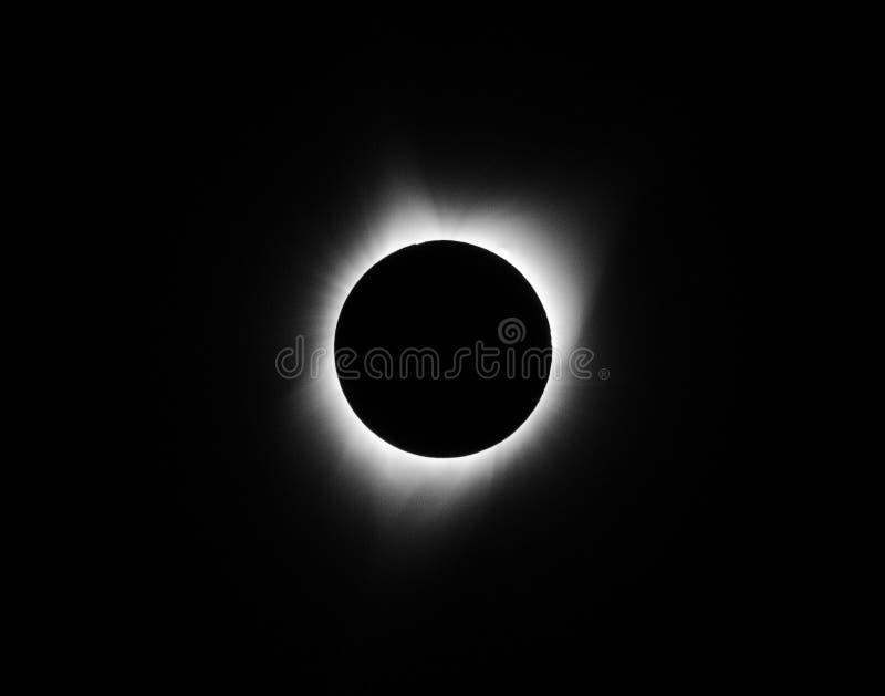 Fullständighet - sol- förmörkelse 2017 royaltyfria foton