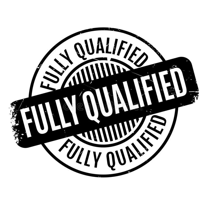 Fullständigt - kvalificerad rubber stämpel stock illustrationer