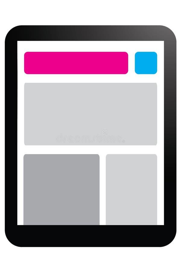 Fullständigt svars- design royaltyfri illustrationer