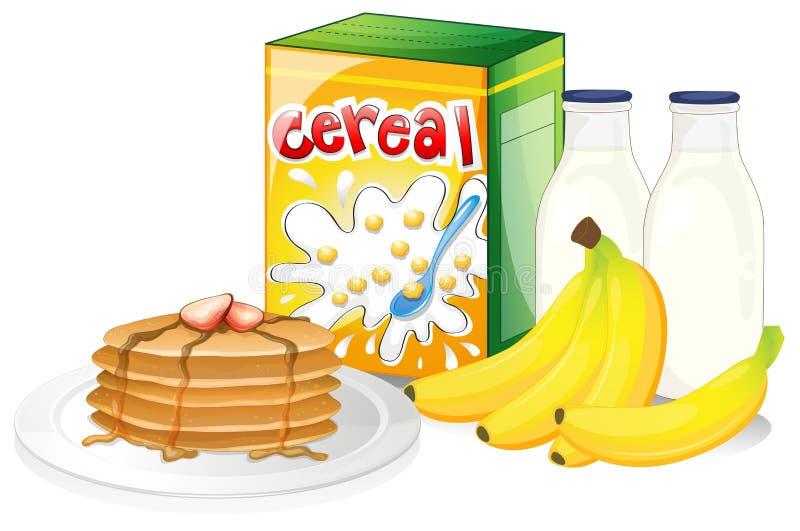 Fullt frukostmål stock illustrationer