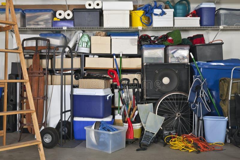 fullt garage arkivfoton