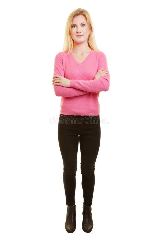 Fullt kroppskott för ung kvinna royaltyfri foto