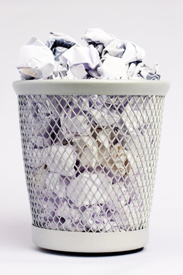 Fullt pappers- fack arkivfoto
