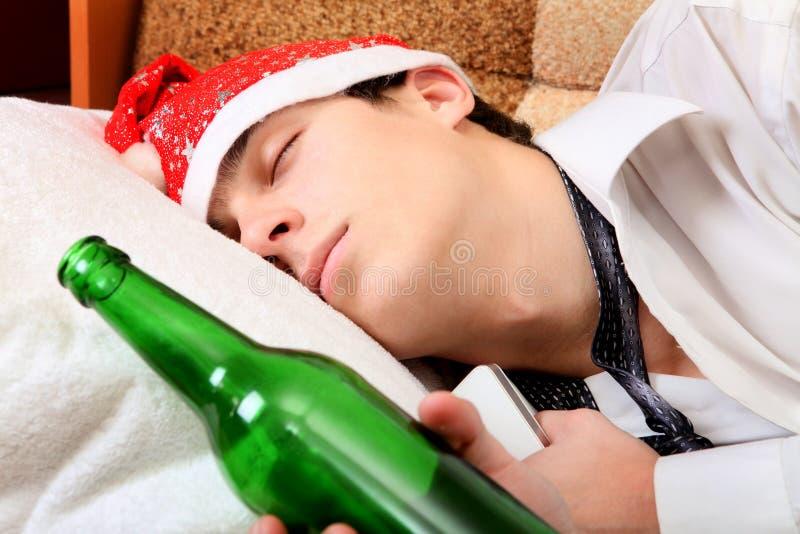 Fullt sova för tonåring royaltyfri fotografi