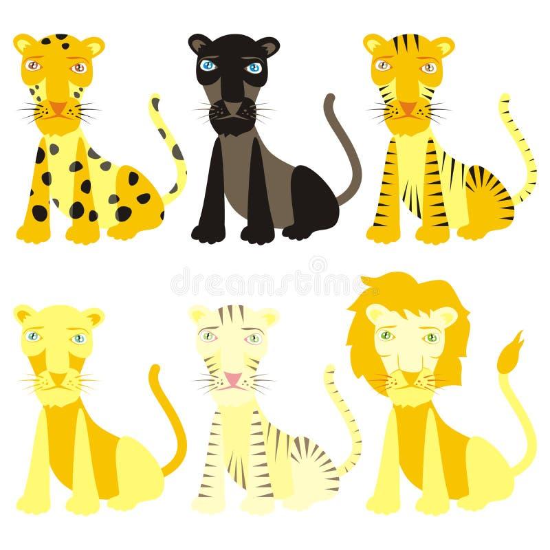 Free Fully Editable Vector Felines Ready To Use Stock Image - 11525931