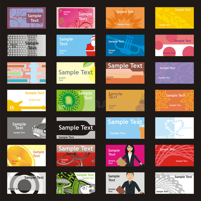 Download Fully Editable Vector Visit Cards With Different L Stock Photo - Image: 11388190