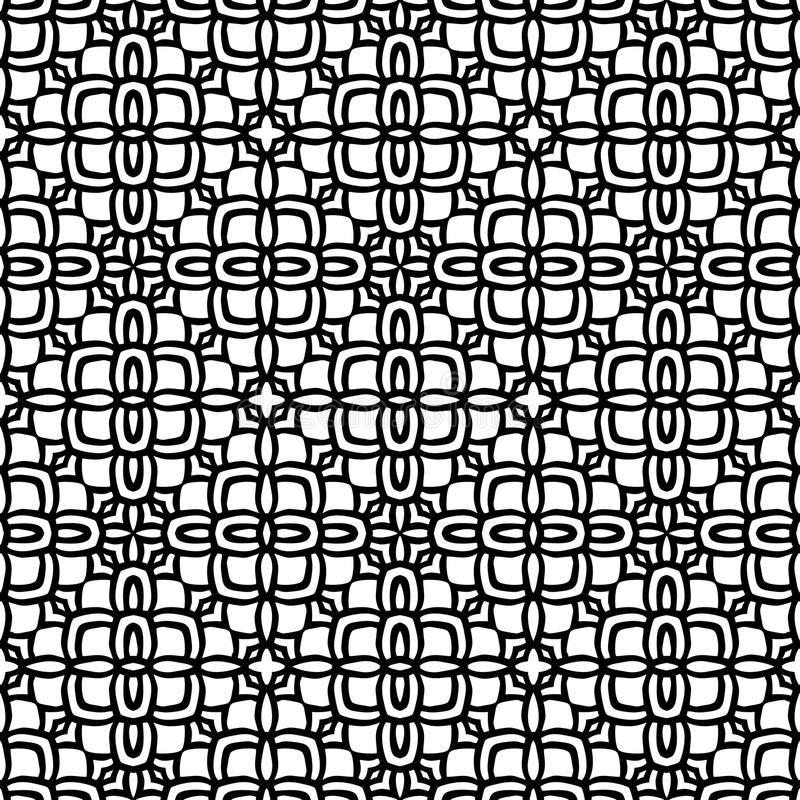 Fully filled ethic flower pattern background in black n white. Seamless vector background illustrations for use in web backgrounds , art , fabrics , styling vector illustration