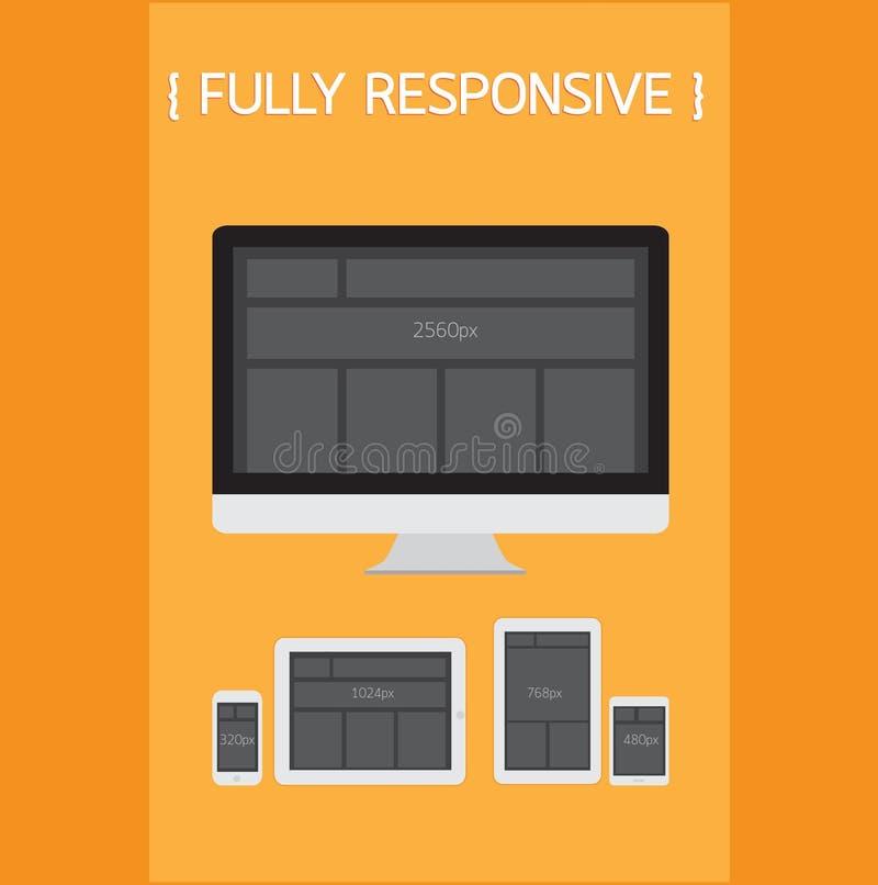 Fully Responsive Design. royalty free illustration