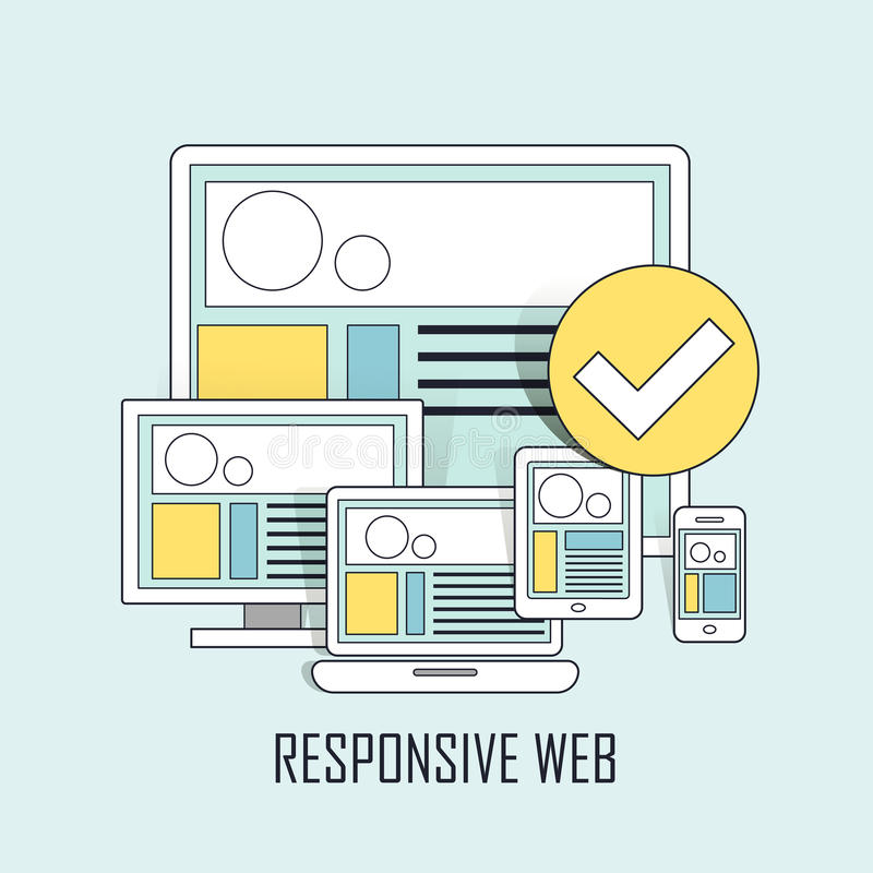 Fully responsive user interface royalty free illustration