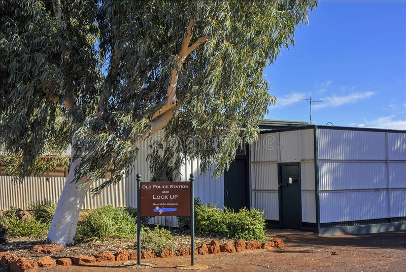 Old Police Station and Lockup, main feature of all gold mining towns, in Australia. stock image