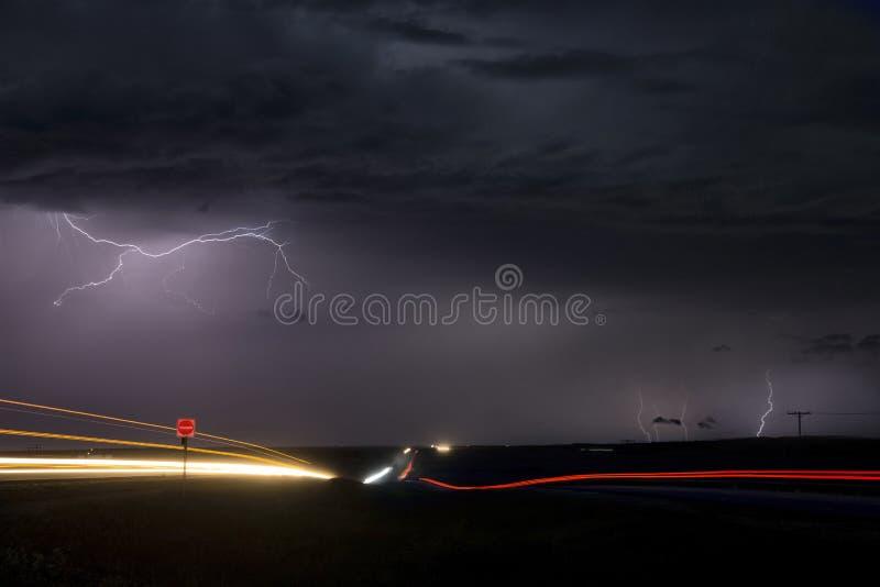 Fulmine Canada della tempesta fotografie stock libere da diritti
