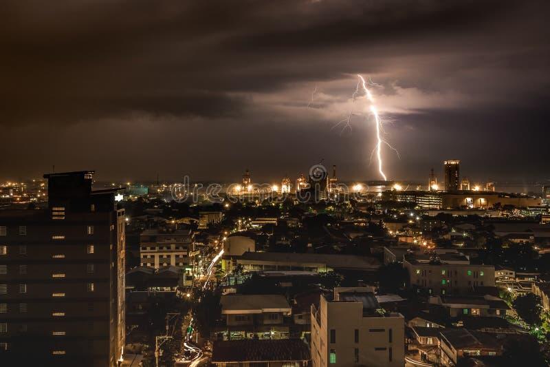 Fulmine a Cebu, Filippine fotografie stock libere da diritti