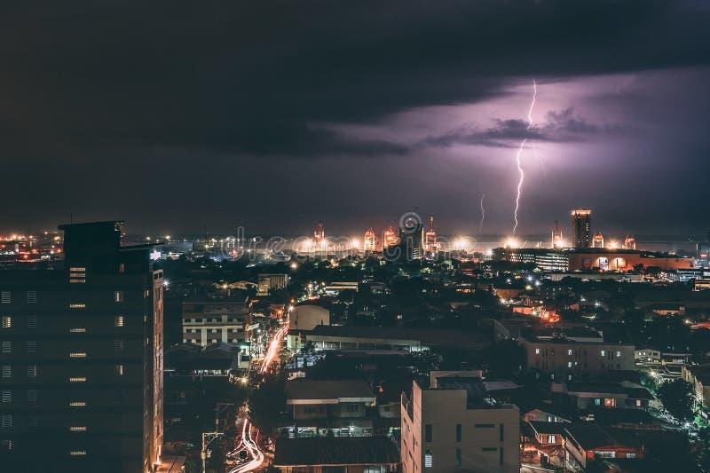 Fulmine a Cebu, Filippine fotografia stock