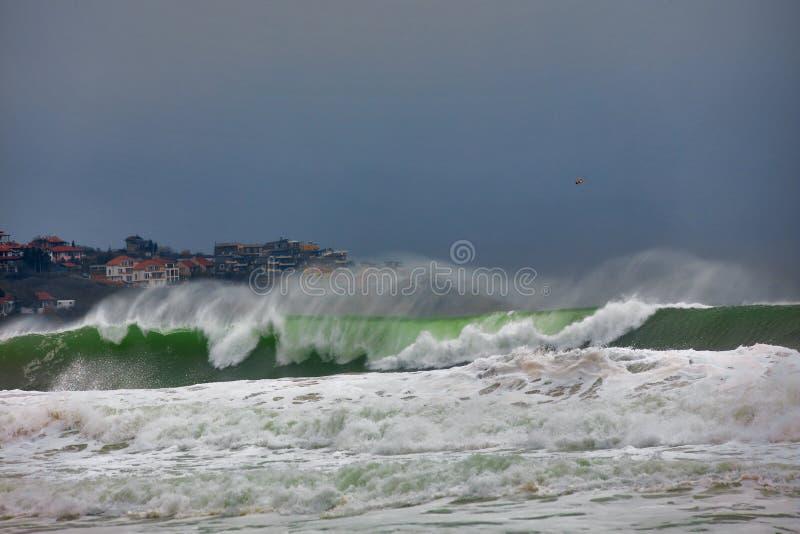 Fulminez sur la Mer Noire photo libre de droits