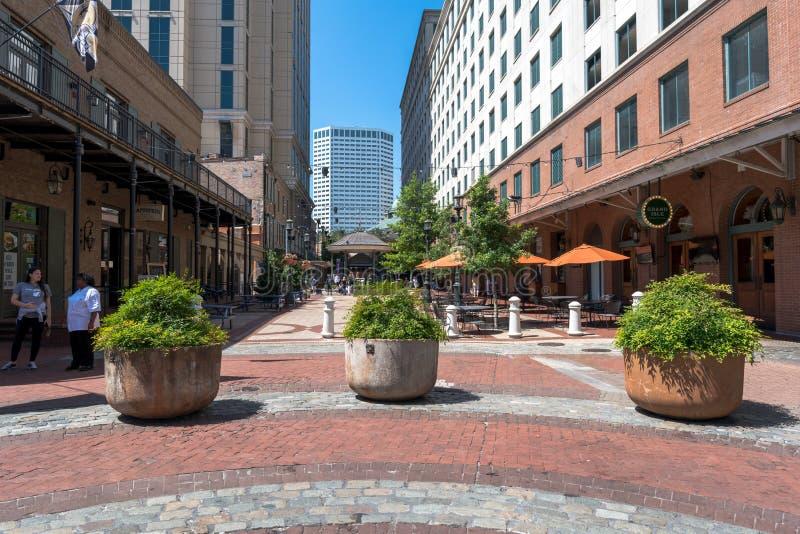 Fulton Alley in New Orleans lizenzfreies stockbild