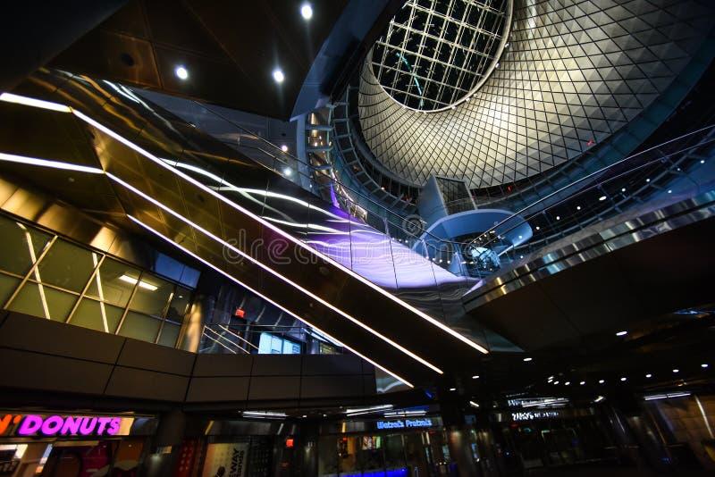 Fulton Center é parte de uns $1 4 bilhão projetos pela autoridade metropolitana do transporte fotografia de stock