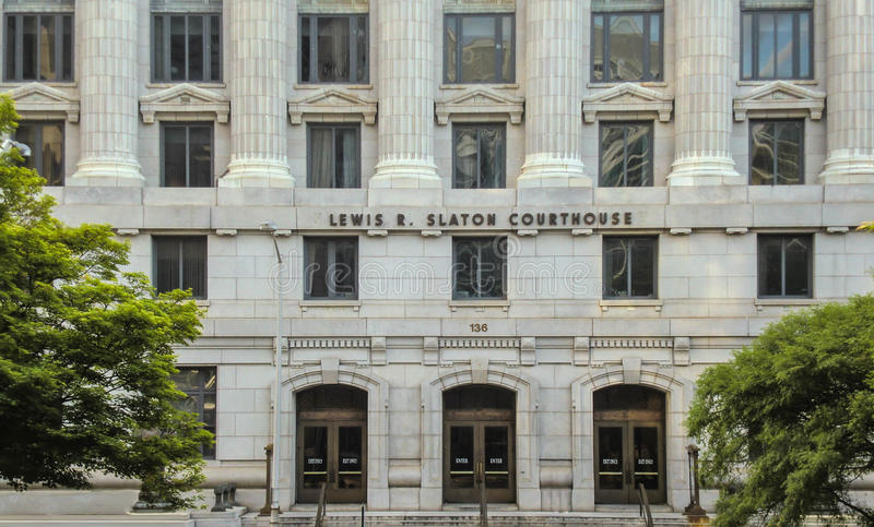 Fulton County Courthouse em Atlanta fotografia de stock