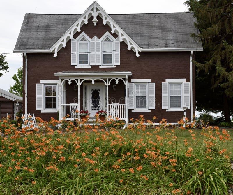 Fulton County Farm House fotografia de stock