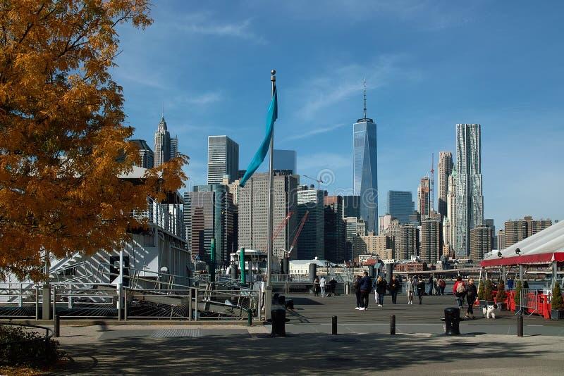 Fulton Ferry Landing, Brooklyn New York, EUA fotografia de stock royalty free