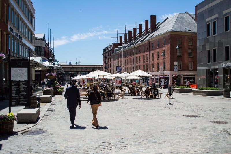 Fulton Fish Market i Manhattan royaltyfria bilder