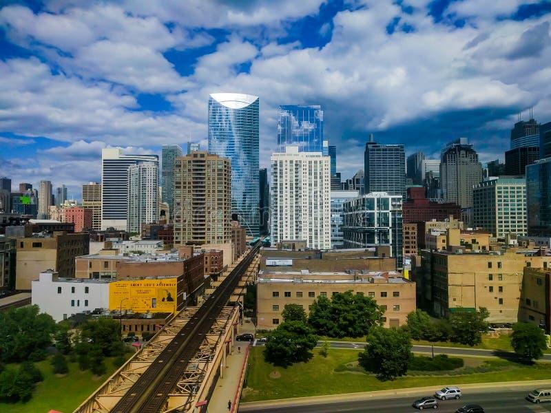 Fulton Market Cityscape em Chicago, EUA imagem de stock royalty free