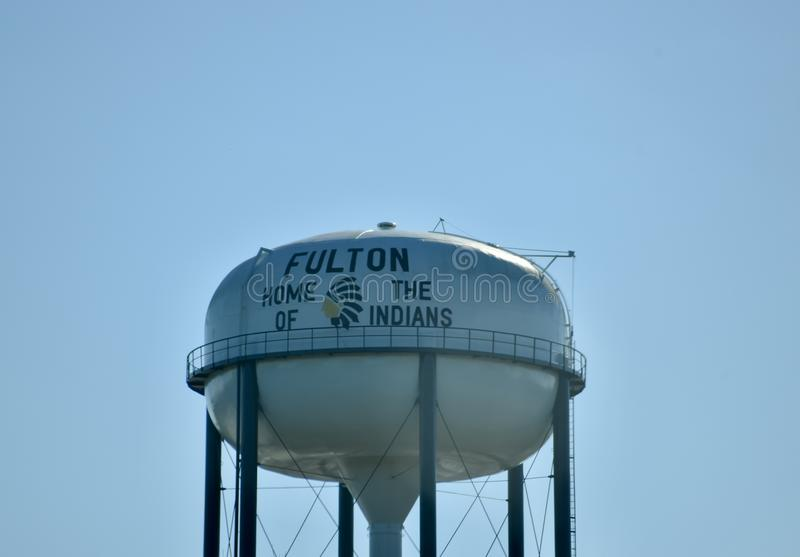Fulton Mississippi Home of the Itawamba Indians. Fulton is a city in and the county seat of Itawamba County, Mississippi, United States. The population was 3,961 royalty free stock photography