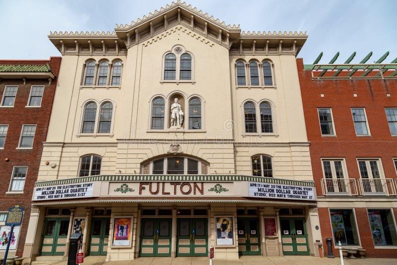 Fulton Opera House em Lancaster foto de stock royalty free